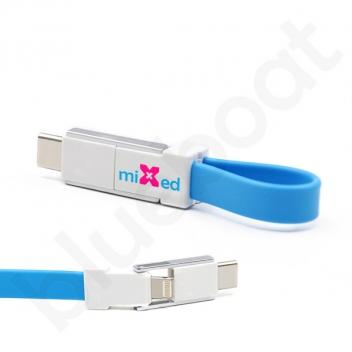 Kabel magnetyczny 3w1 USB brelok