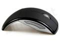 czarna składana myszka komputerowa z nadrukiem