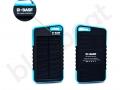 power bank solarny z logo BASF o pojemności 5000mAh i wbudowaną latarką