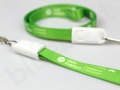 nylonowy kabel USB smycz 2w1 z logo OEM energy