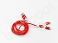 czerwony kabel usb ładowanie i transfer danych