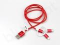 kabel reklamowy 3w1 z szybkim ładowaniem 3A
