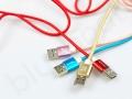 kolorowe kable USB z grawerowanym logo