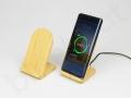 bambusowy stojak na biurko bezprzewodowa ładowarka