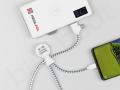 powerbank indukcyjny 10000mAh z logo do ładowania smartfona
