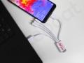 multi kabel z logo Mcpp z wieloma końcówkami do ładowania smartfona
