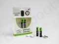 nietypowy gadżet reklamowy, baterie ładowane kablem z indywidualnym nadrukiem logo SOLARIS