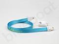 Kabel USB smycz nylonowa do ładowania i transferu z logo NJU MOBILE