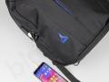 antykradzieżowy plecak na laptopa z USB oraz nadrukiem logo