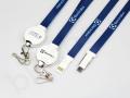 Kable USB z nadrukiem, gadżet smycz 3w1