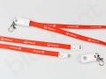 gadżet kabel usb smycz z logo Veolia