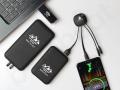 gadżety pendrive, kabel usb, powerbank z podświetlanym logo