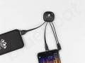 kabel usb do ładowania telefonu z podświetlanym logo