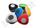 kolorowe wodoodporne głośniki reklamowe z przyssawką i nadrukiem logo