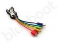 kolorowy kabel ładujący 5w1 z indywidualną główką
