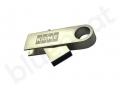 metalowa pamięć USB OTG z grawerowanym logo PLAY