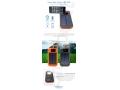 reklamowy gadżet, power bank solarny z latarką i uchwytem do telefonu