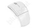 biała składana myszka reklamowa komputerowa z logo