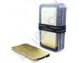 złoty power bank z wbudowaną pamięcią USB